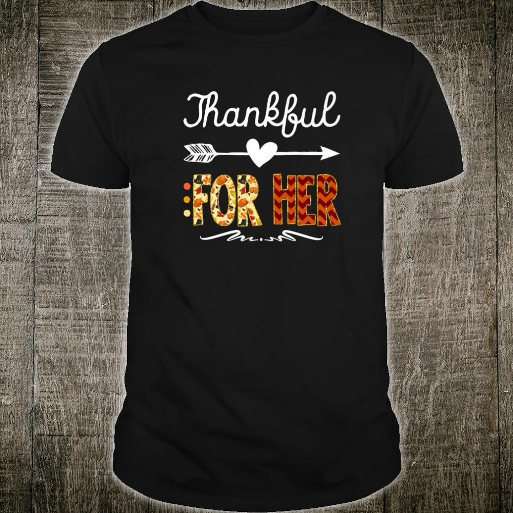 Matching Thanksgiving Couples Pair Outfit Shirt