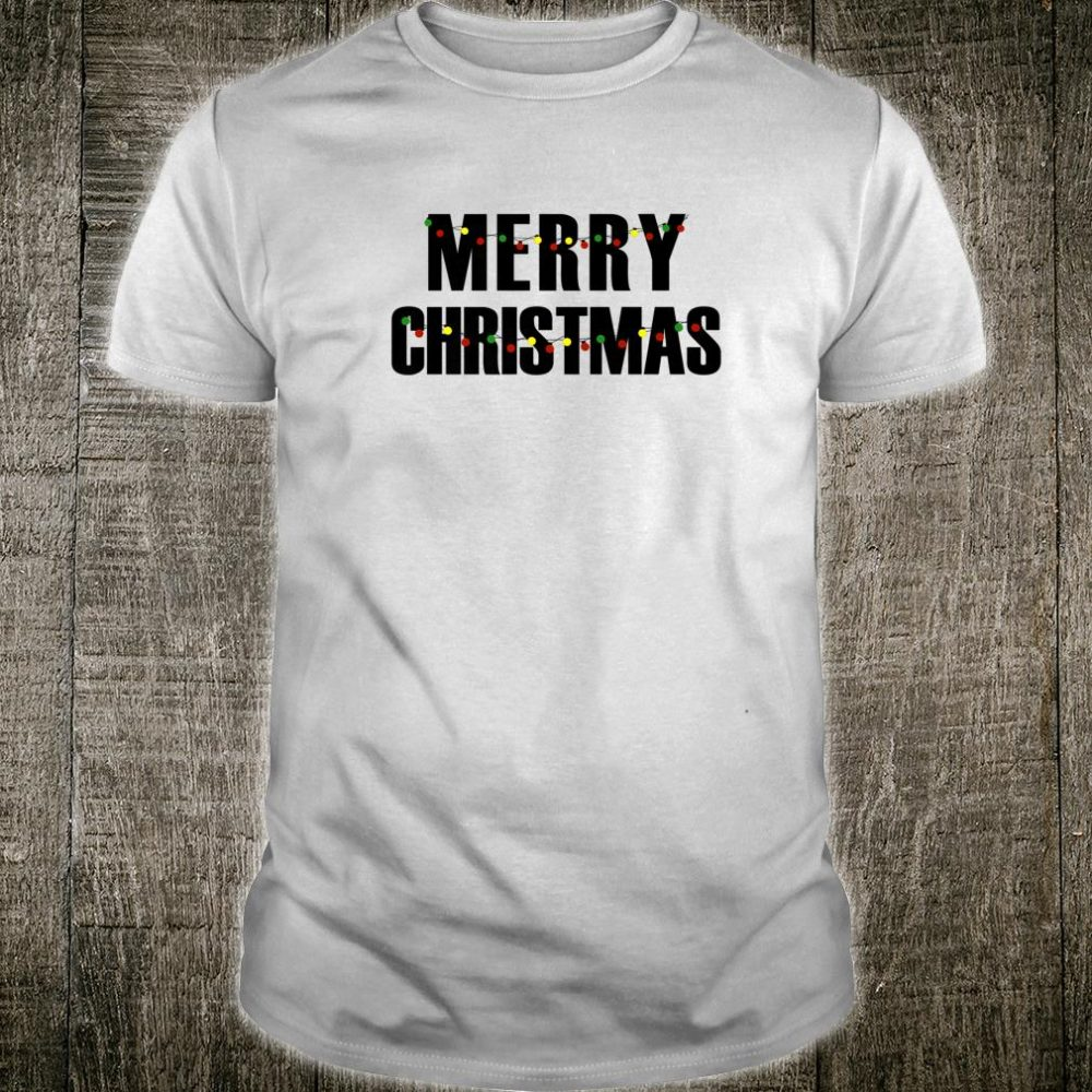 Mens Merry Christmas Statement Shirt