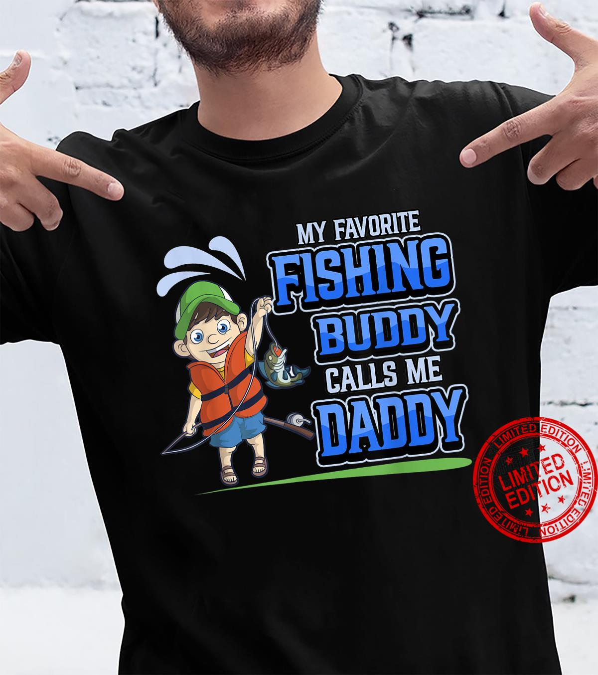 Mens My Favorite Fishing Buddy Calls Me Daddy Father Son Angler Shirt