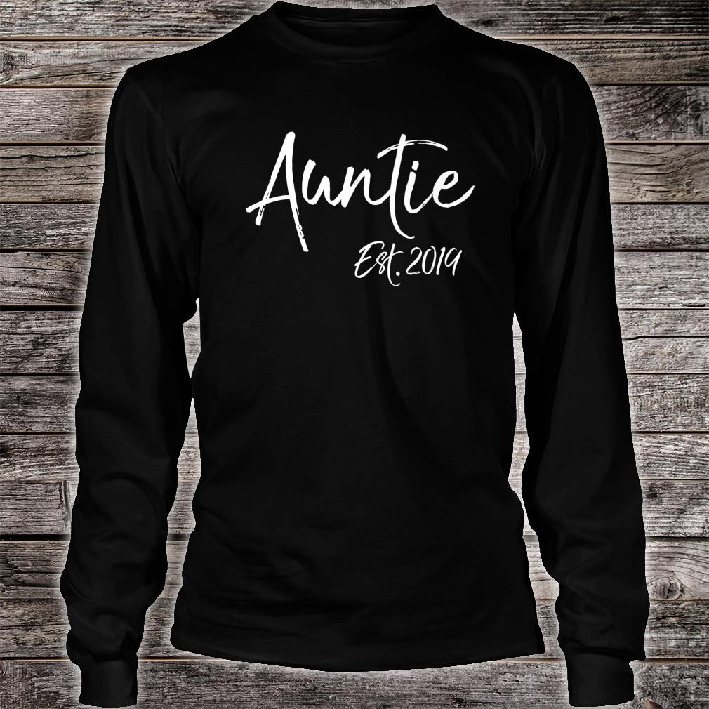 Mens Pregnancy Announcement for Sisters Auntie Est. 2019 Shirt long sleeved