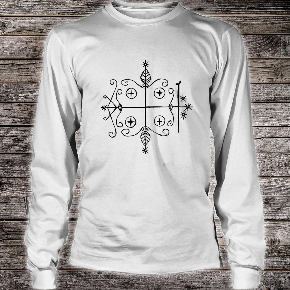 Papa Legba Voodoo Veve Loa Occult Sigil Shirt long sleeved