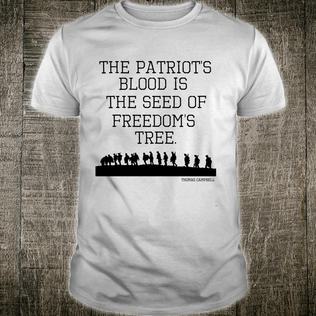 Patriotic USA Patriot's Blood is the Seed of FreedomTree Shirt