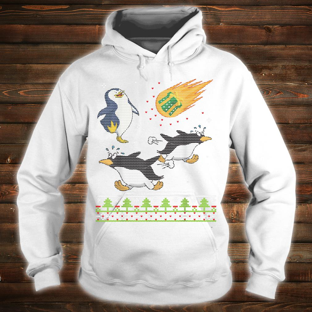 Penguins Dance Surprise Happy Xmas Presents Coming Merry Shirt hoodie
