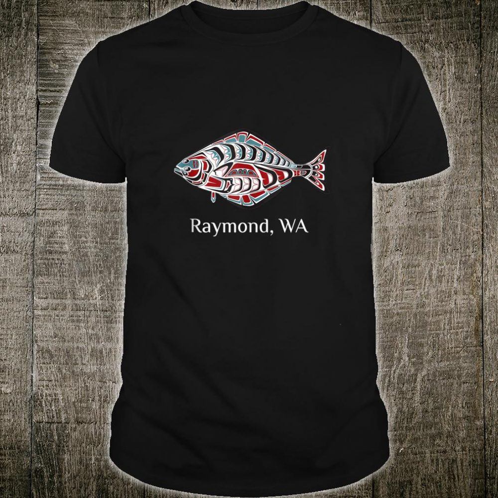 Raymond Washington PNW Art Native American Halibut Tribal Shirt