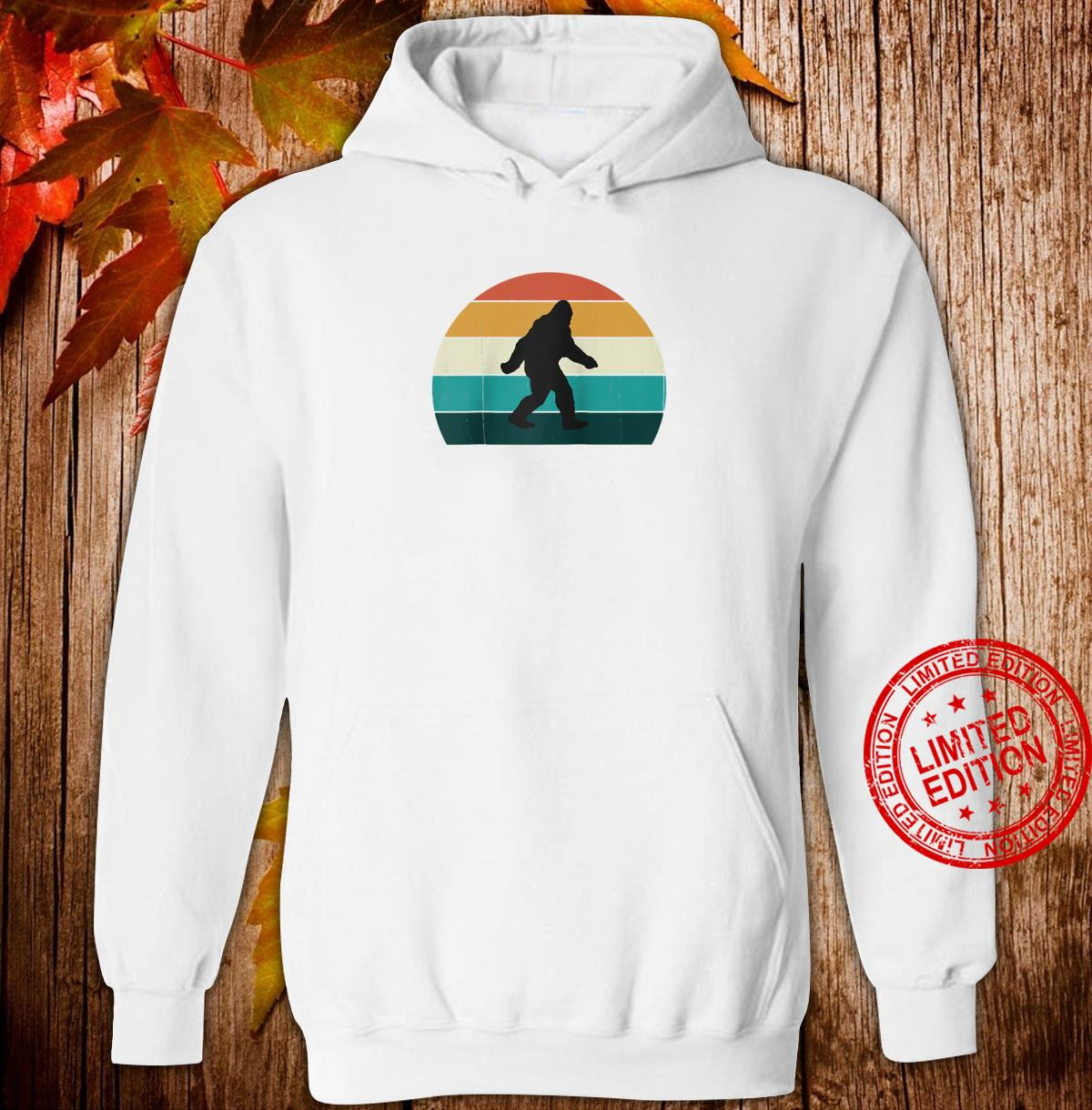 Retro Big Foot Cool Sunset Bigfoots Shirt hoodie