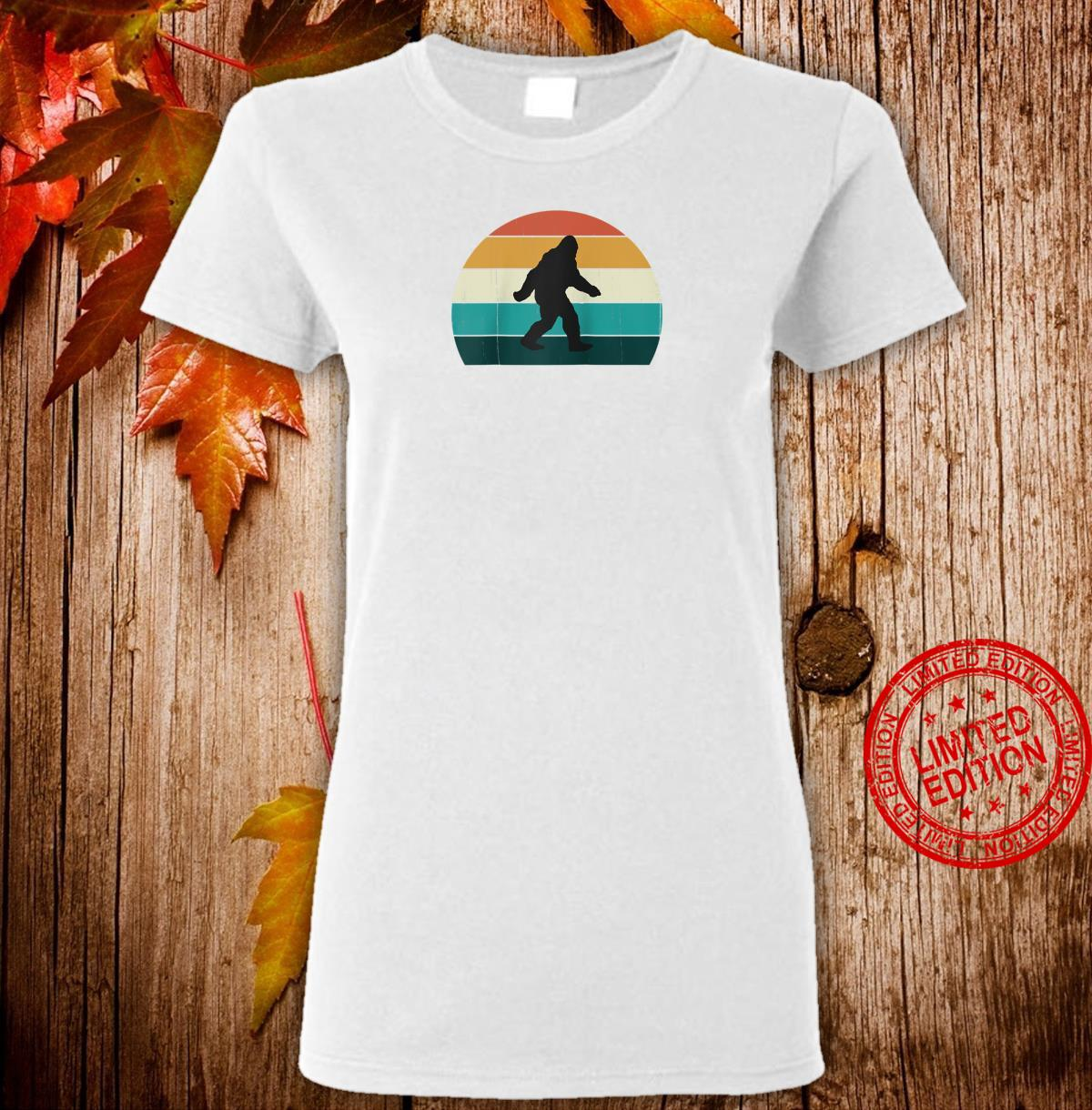 Retro Big Foot Cool Sunset Bigfoots Shirt ladies tee