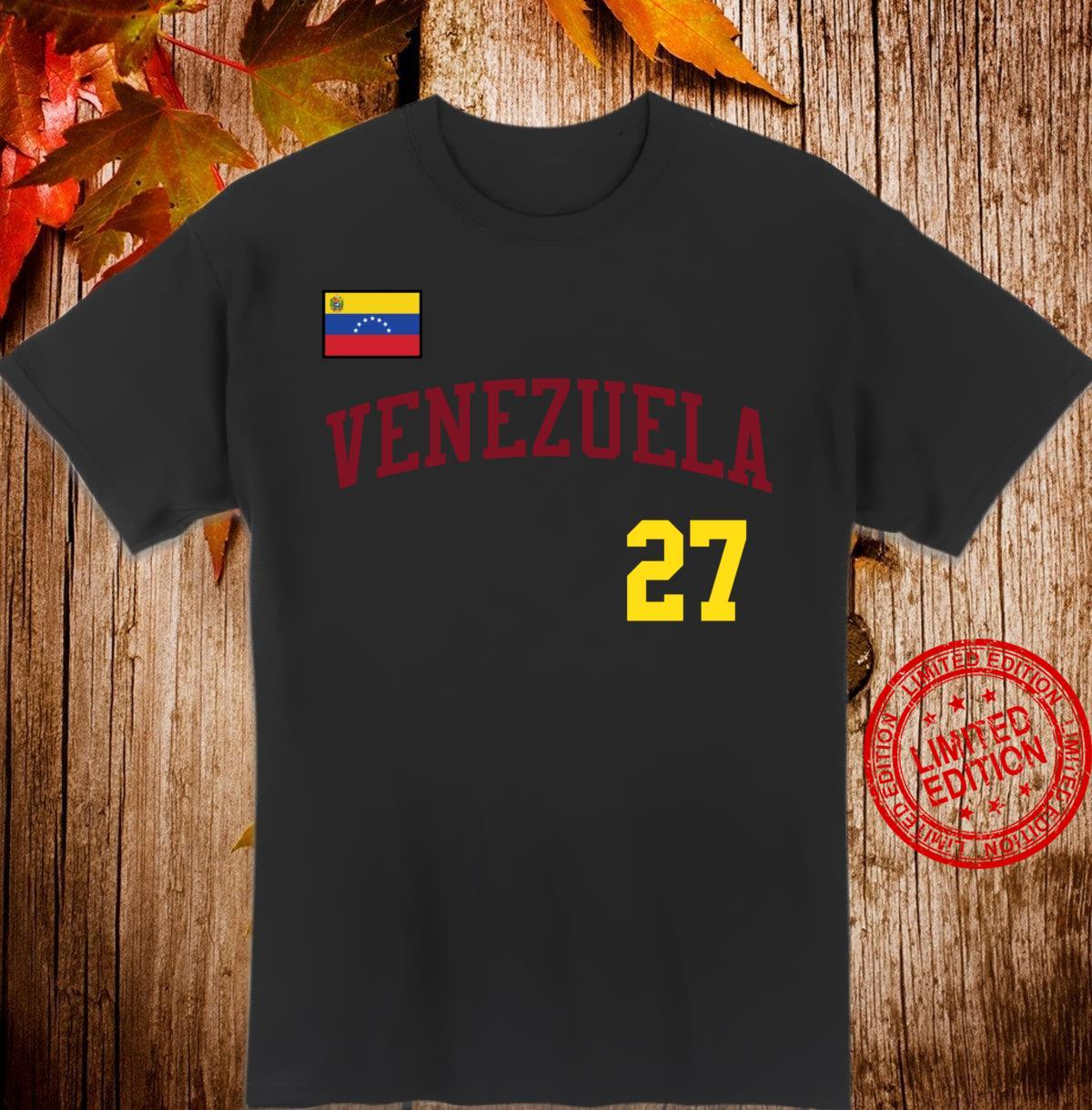 Retro Venezuela Design for Baseball Fans and Venezuelans Shirt