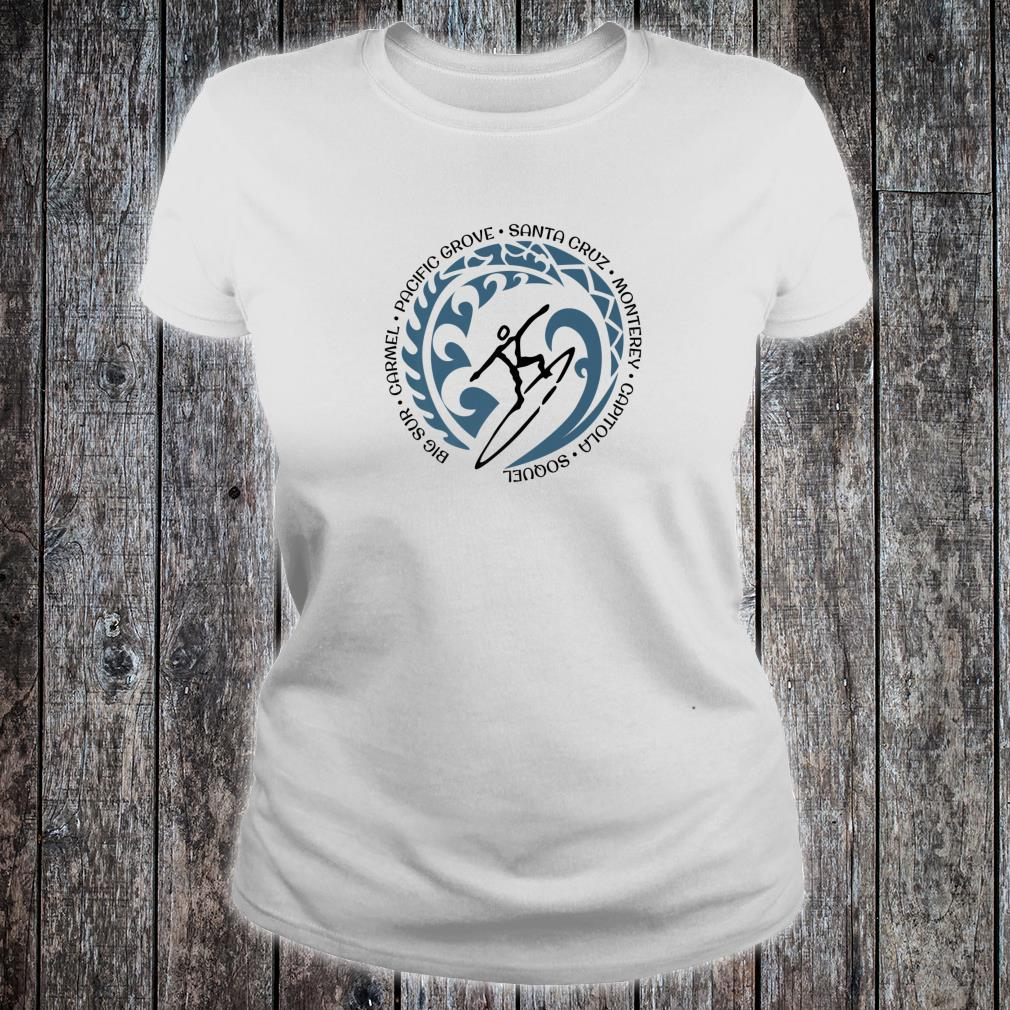 Santa Cruz California Surfing Beach Ocean Surfer Shirt ladies tee