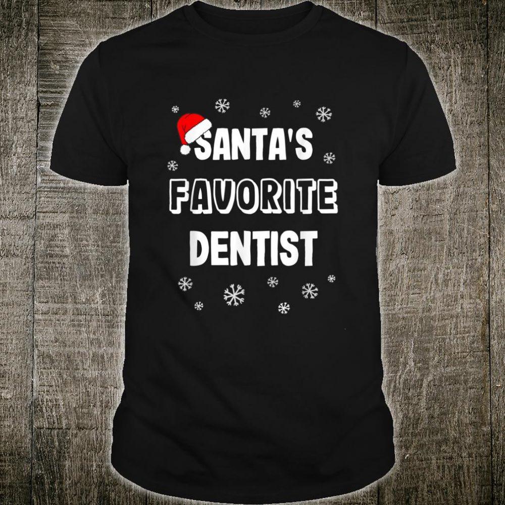 Santa's Favorite Dentist Christmas Shirt