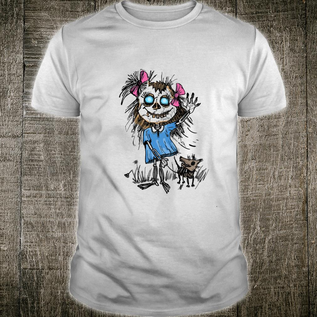 Scary Zombie Pin-Up Girl with Dog Shirt