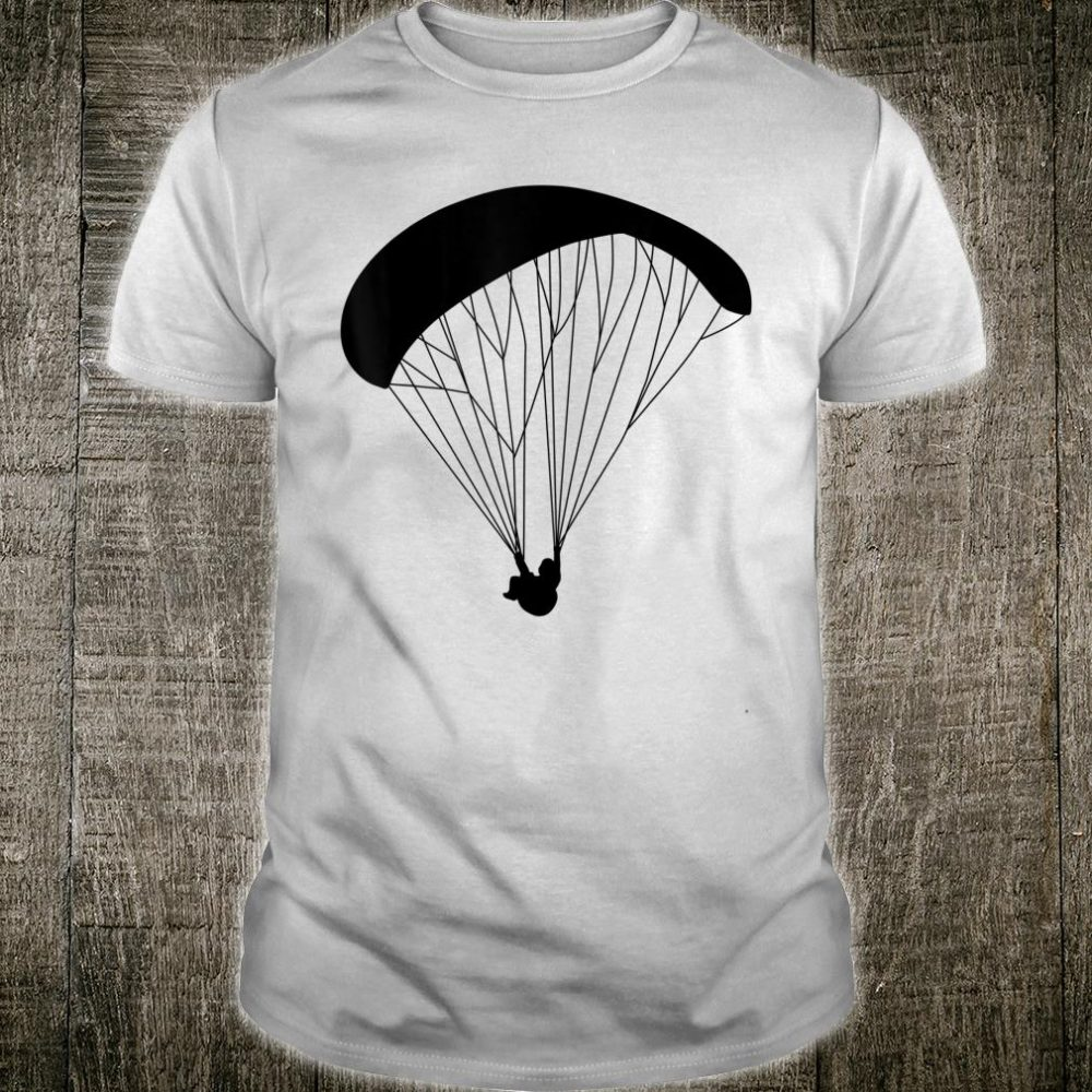 Silhouette Paragliding Paraglider Skydive Parachuting Flying Shirt