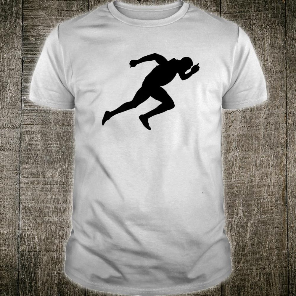 Silhouette Sprint Runner Sprinter Running Racer Athlete Fan Shirt