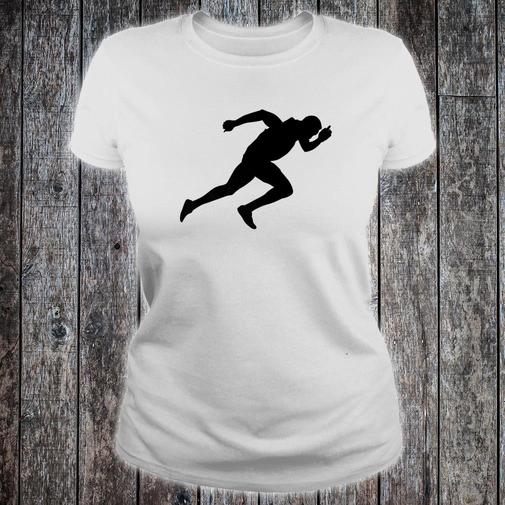Silhouette Sprint Runner Sprinter Running Racer Athlete Fan Shirt ladies tee