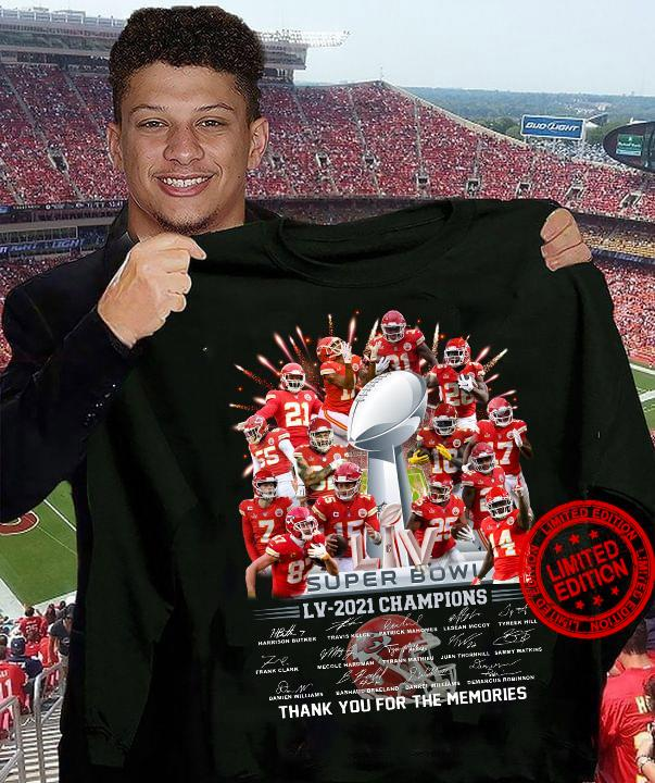 Super Bowl Lv-2021 Champions Thank You For The Memories Shirt