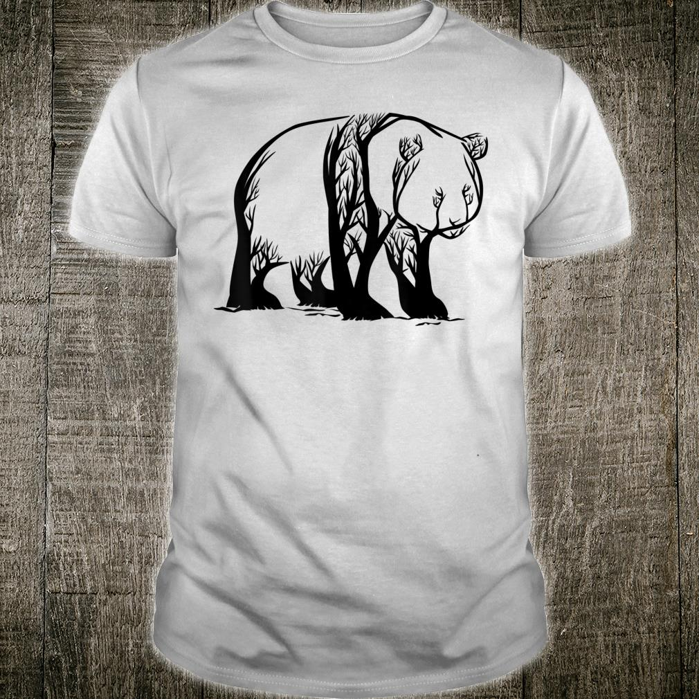 Trees into Panda Bear in est Nature Panda Shirt