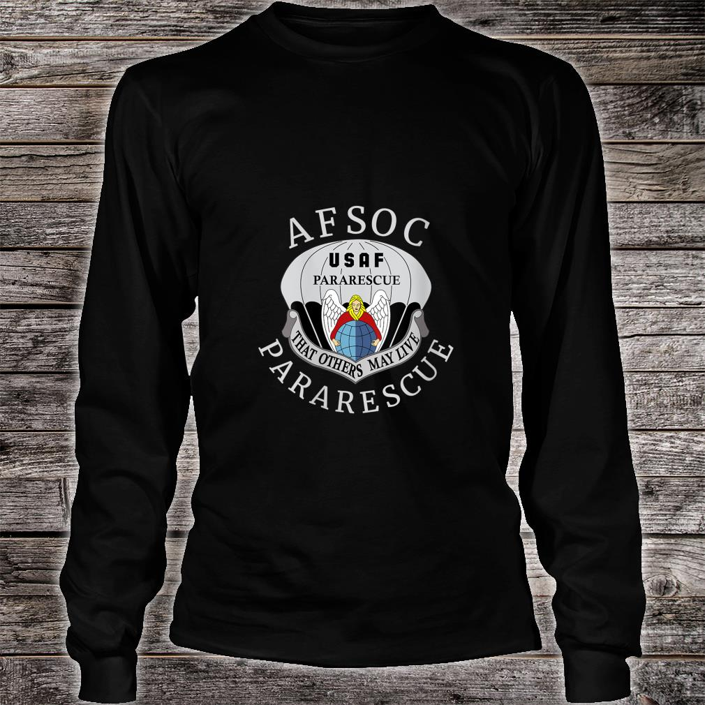 USAF Pararescue United States Air AFSOC Shirt long sleeved