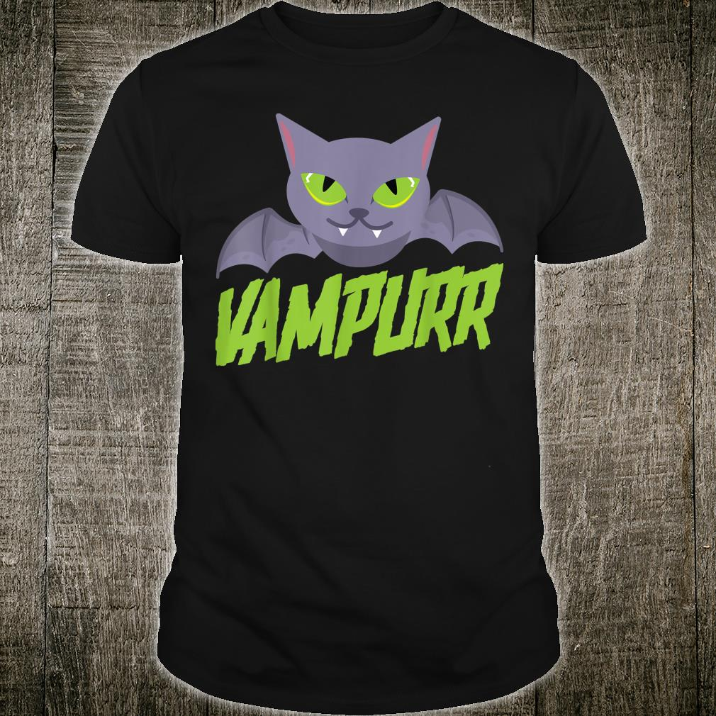 Vampurr Bat Cat Vampire Vampirina Animal Halloween Shirt