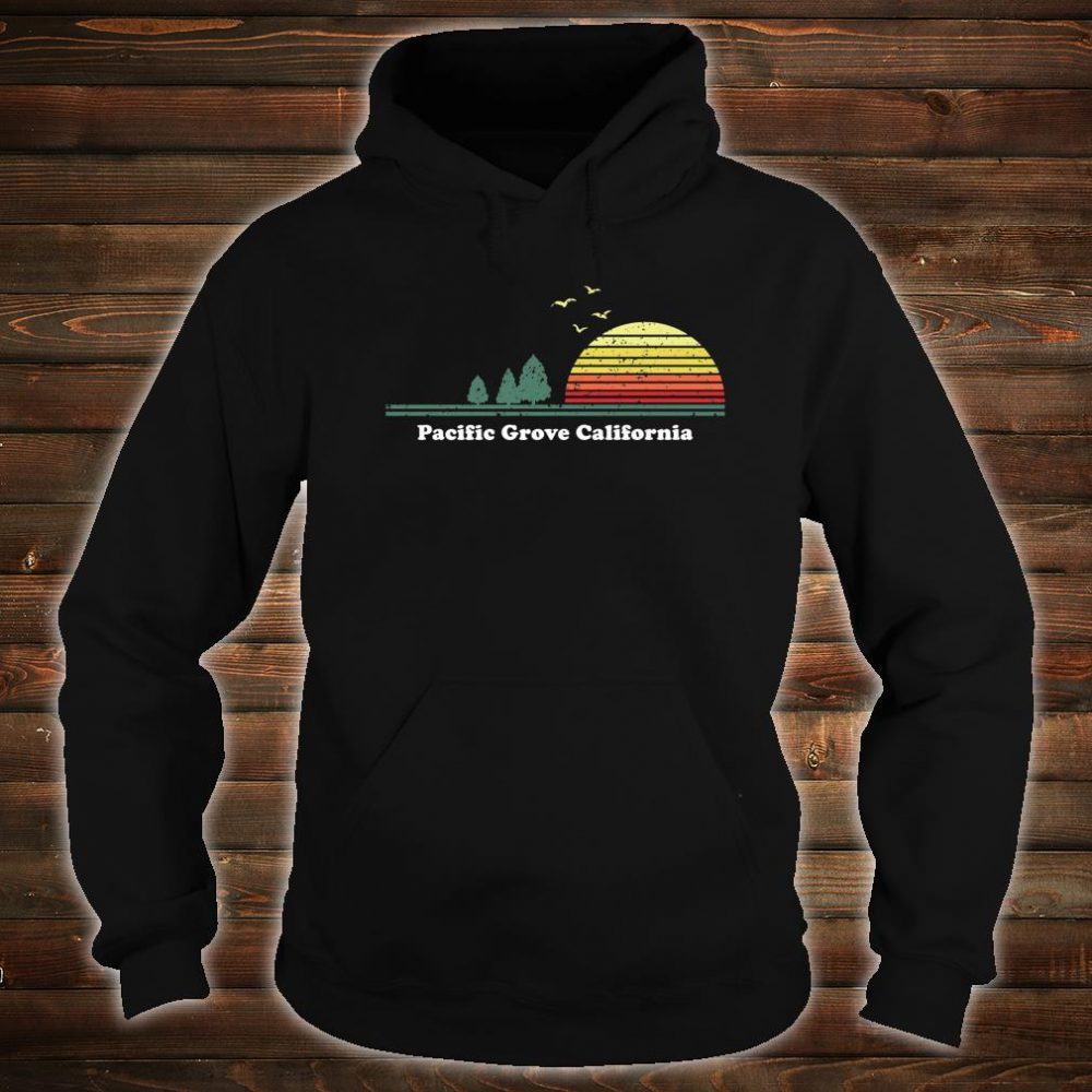 Vintage Pacific Grove, California Sunset Souvenir Print Shirt hoodie