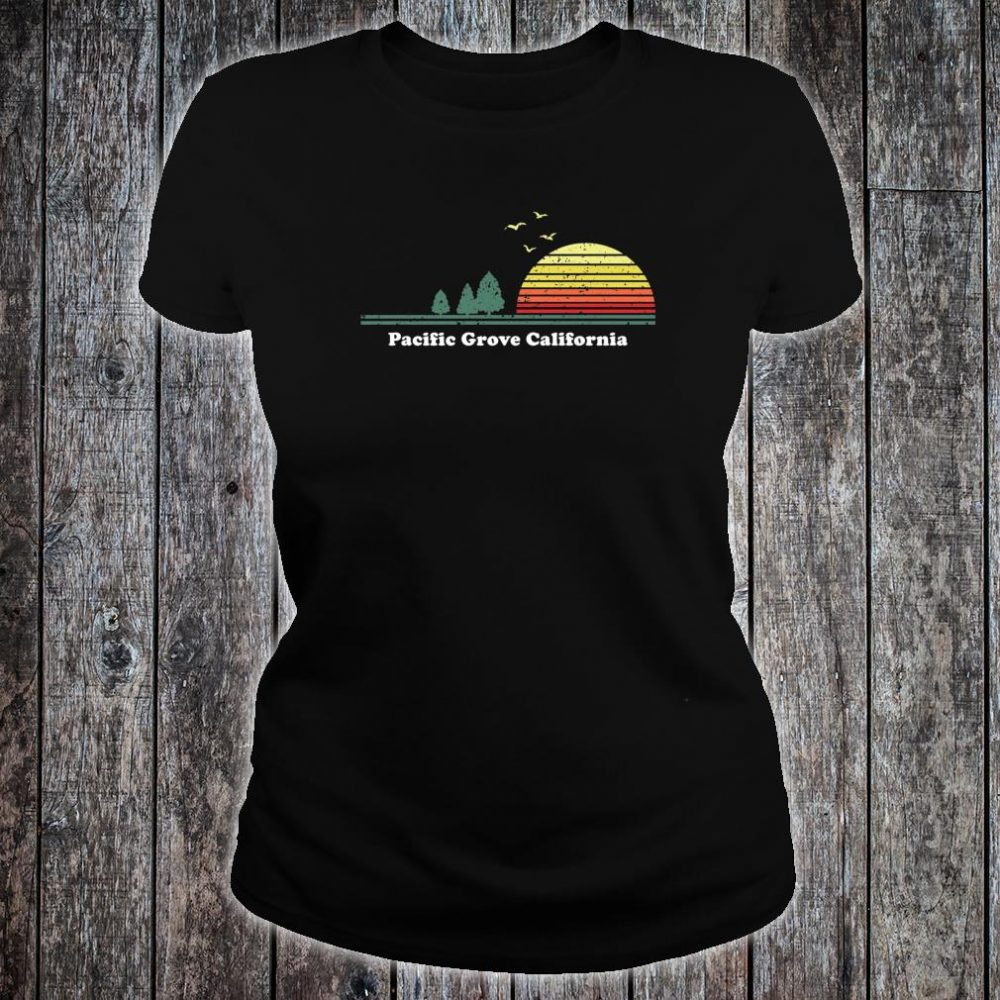 Vintage Pacific Grove, California Sunset Souvenir Print Shirt ladies tee