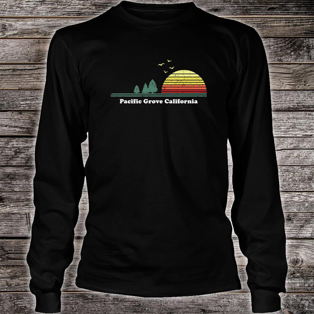 Vintage Pacific Grove, California Sunset Souvenir Print Shirt Long sleeved