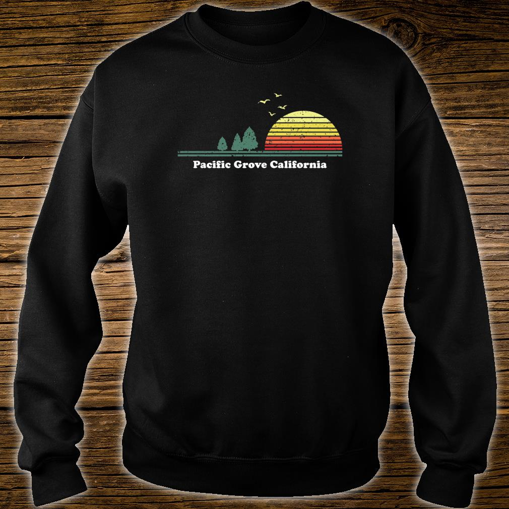 Vintage Pacific Grove, California Sunset Souvenir Print Shirt sweater
