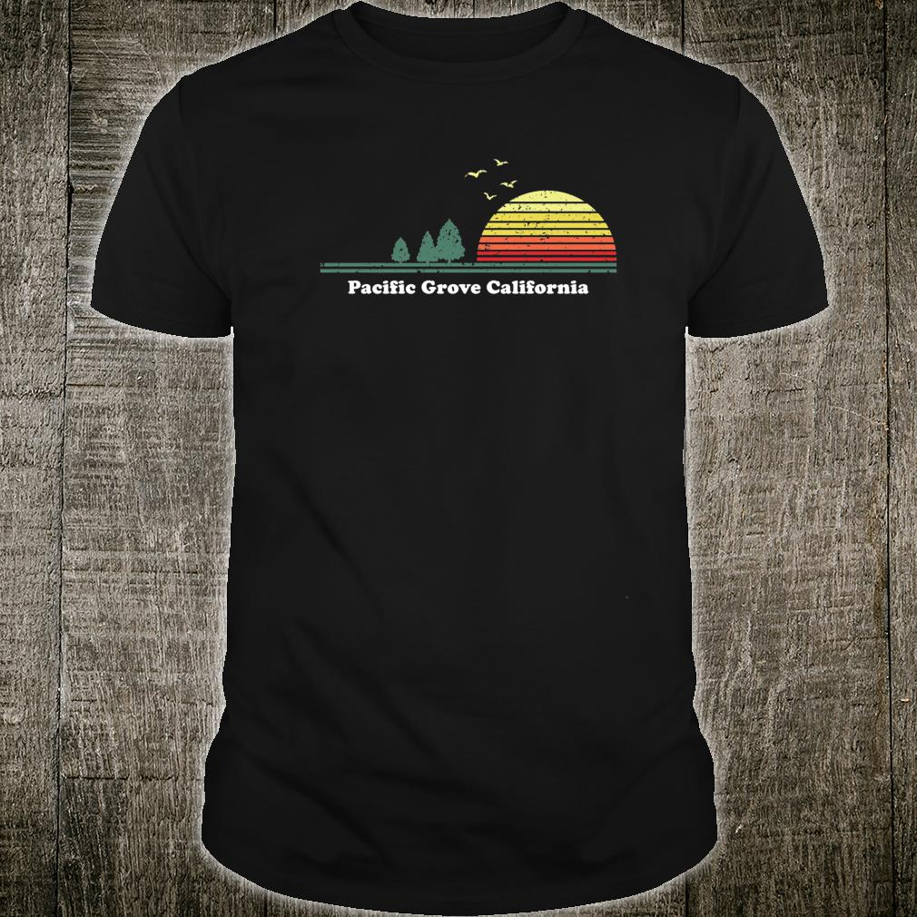 Vintage Pacific Grove, California Sunset Souvenir Print Shirt
