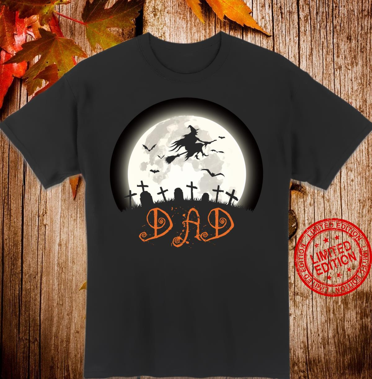 Witch Graveyard Dad Family Matching Halloween Costume Shirt