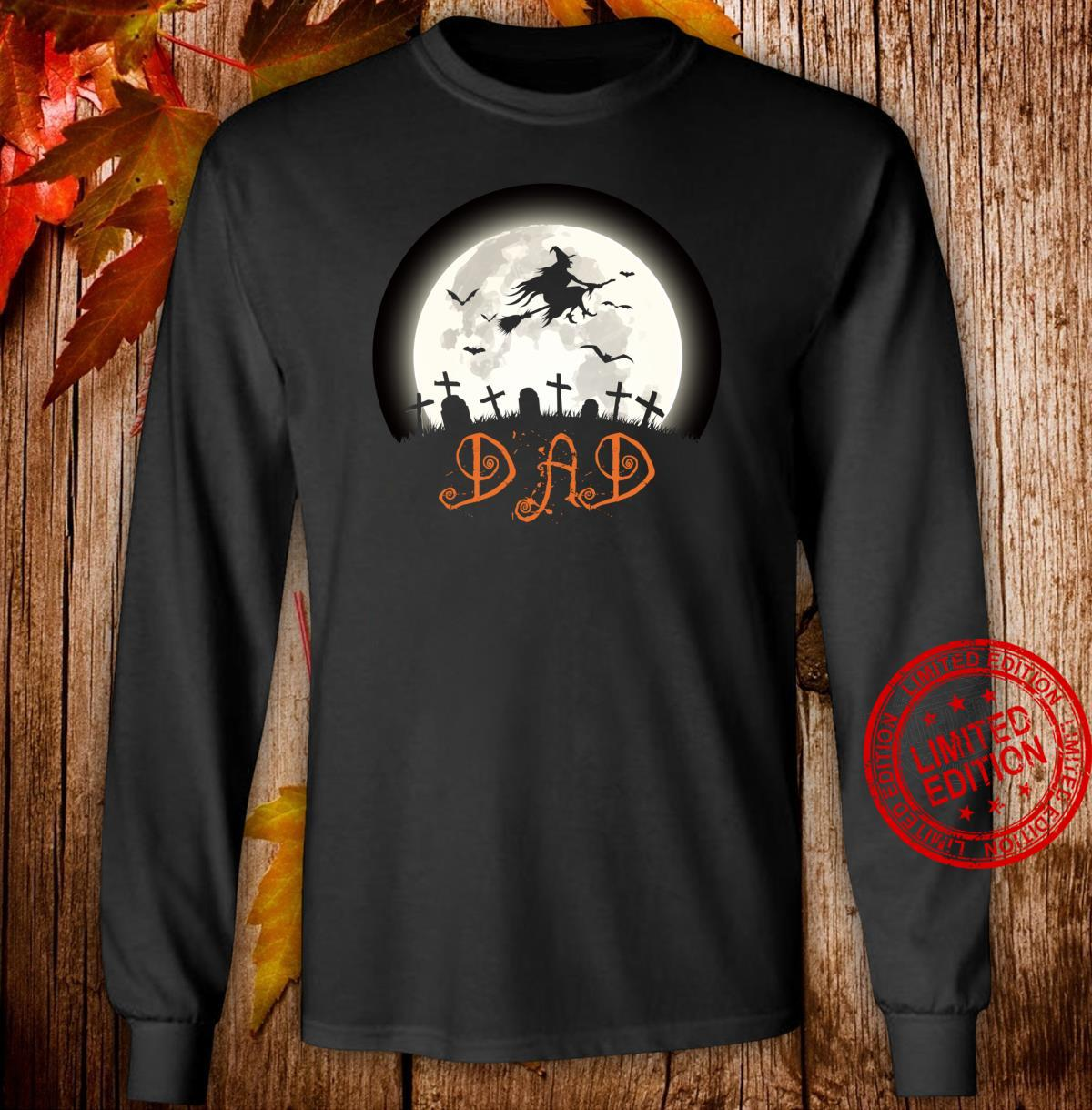 Witch Graveyard Dad Family Matching Halloween Costume Shirt long sleeved