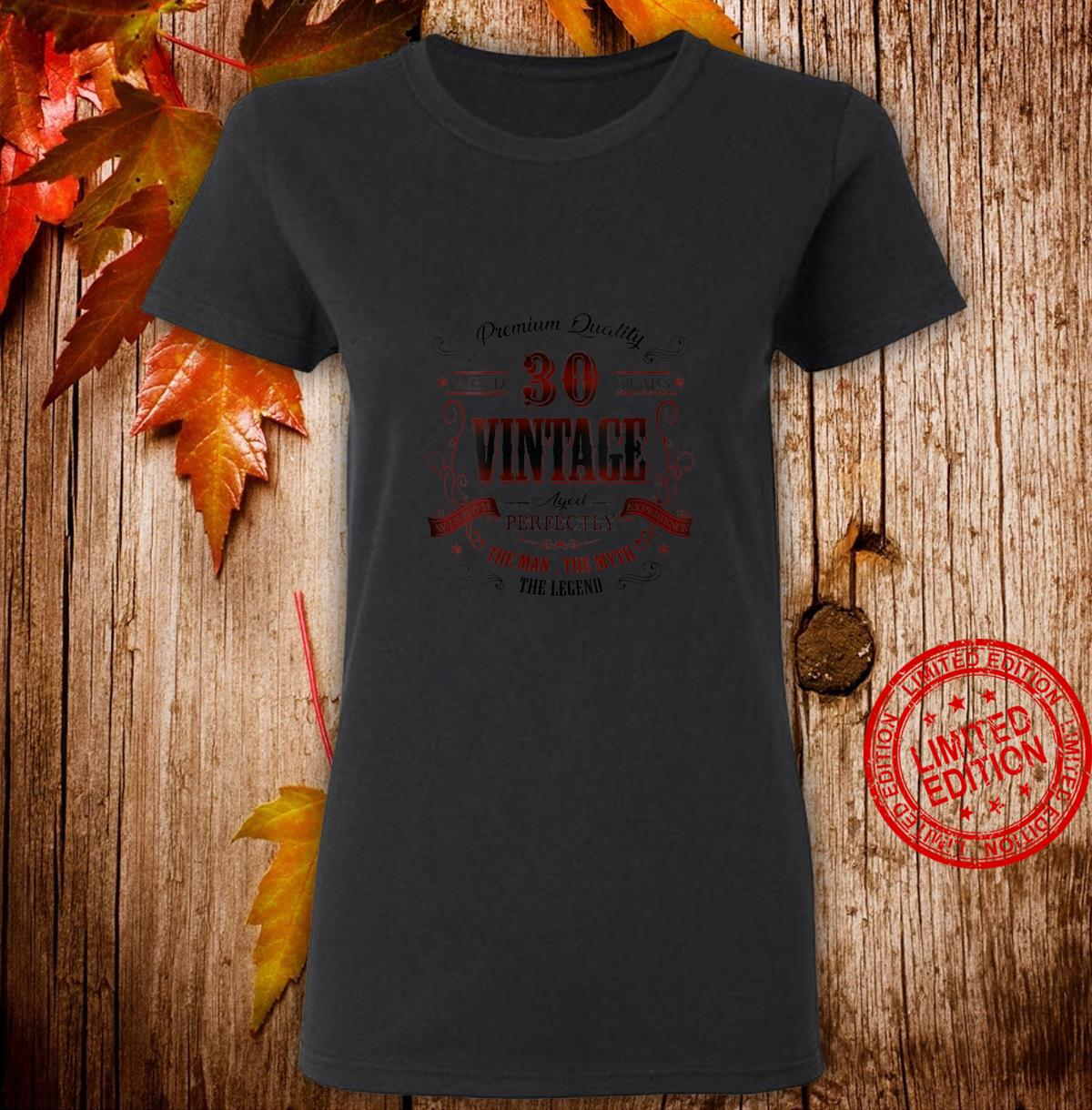 Womens 30th birthday idea for Vintage 30 years old bday Shirt ladies tee