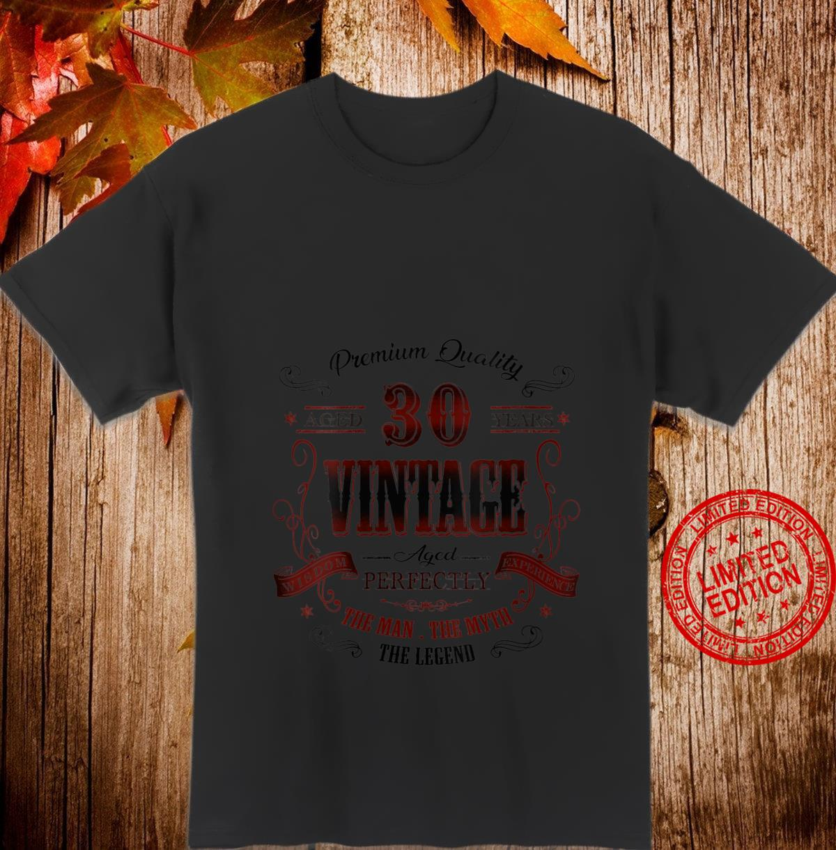 Womens 30th birthday idea for Vintage 30 years old bday Shirt
