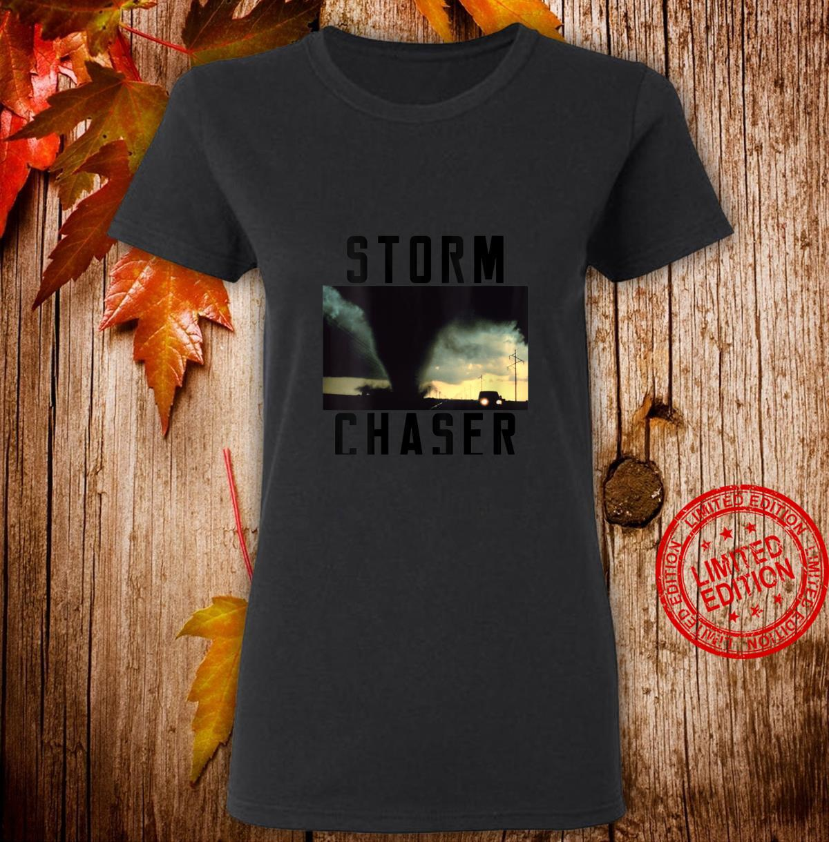 Womens Storm Chaser Tornado Picture Weather Meteorologist Shirt ladies tee