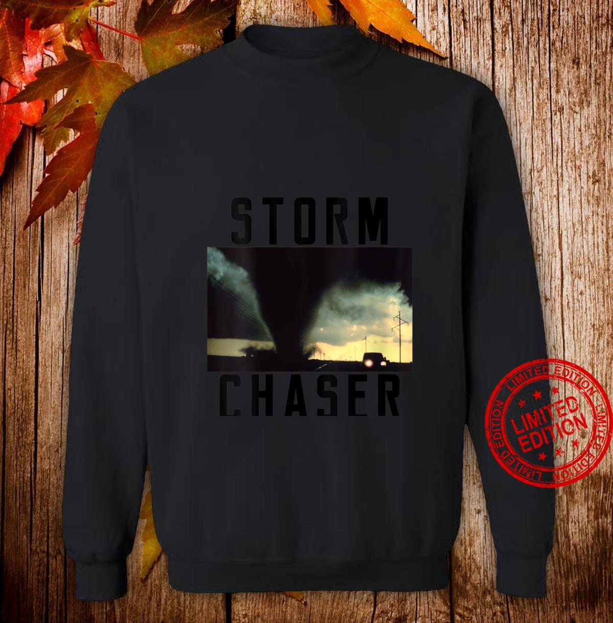 Womens Storm Chaser Tornado Picture Weather Meteorologist Shirt sweater
