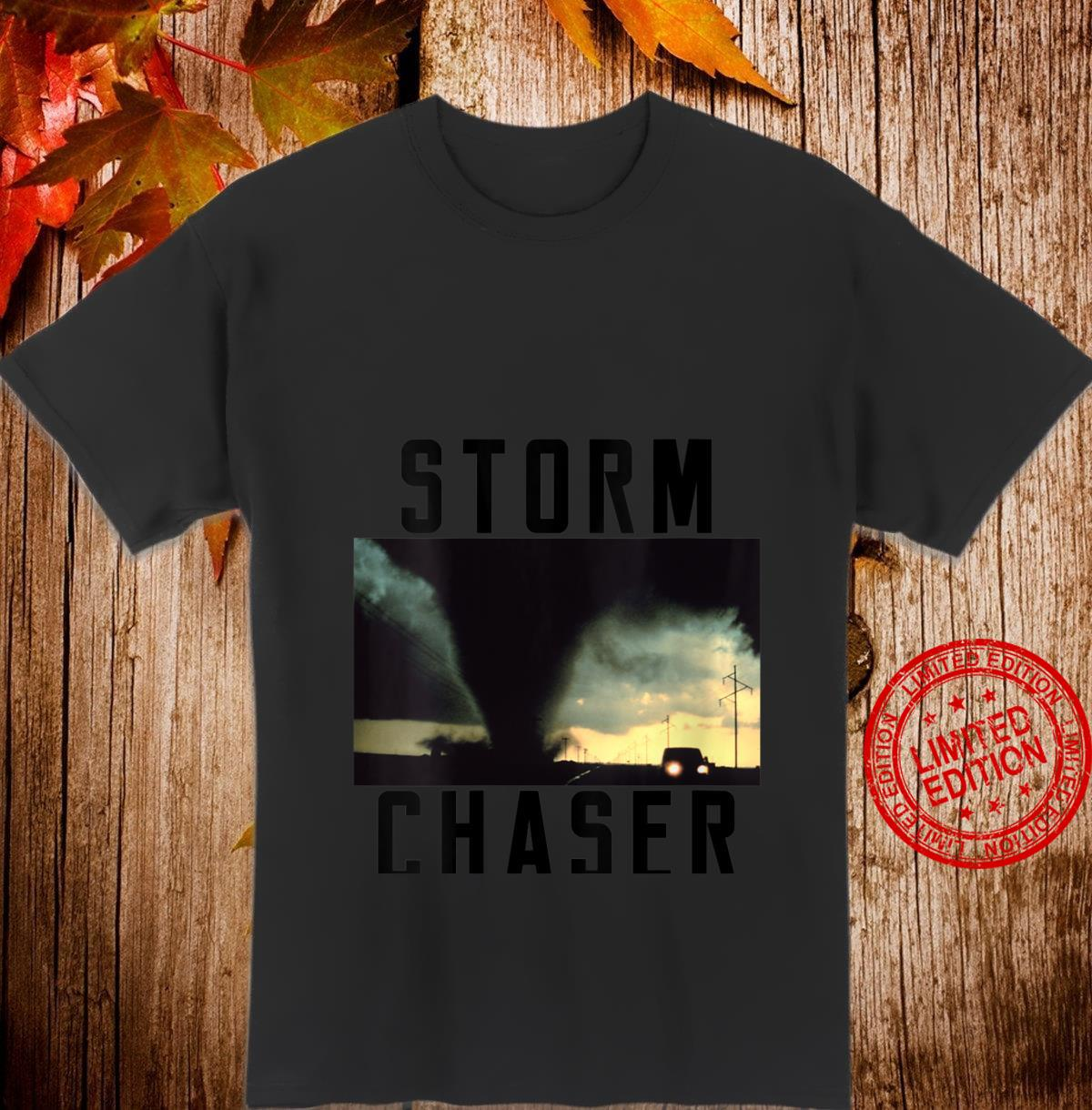 Womens Storm Chaser Tornado Picture Weather Meteorologist Shirt