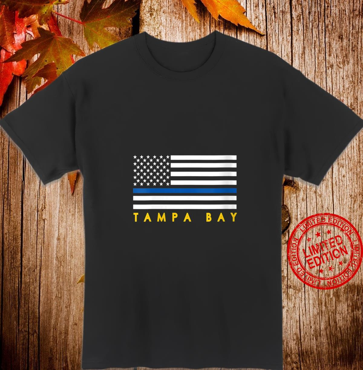 Womens Thin Blue Line Flag Tampa Bay TB Police Officer blue Support Shirt