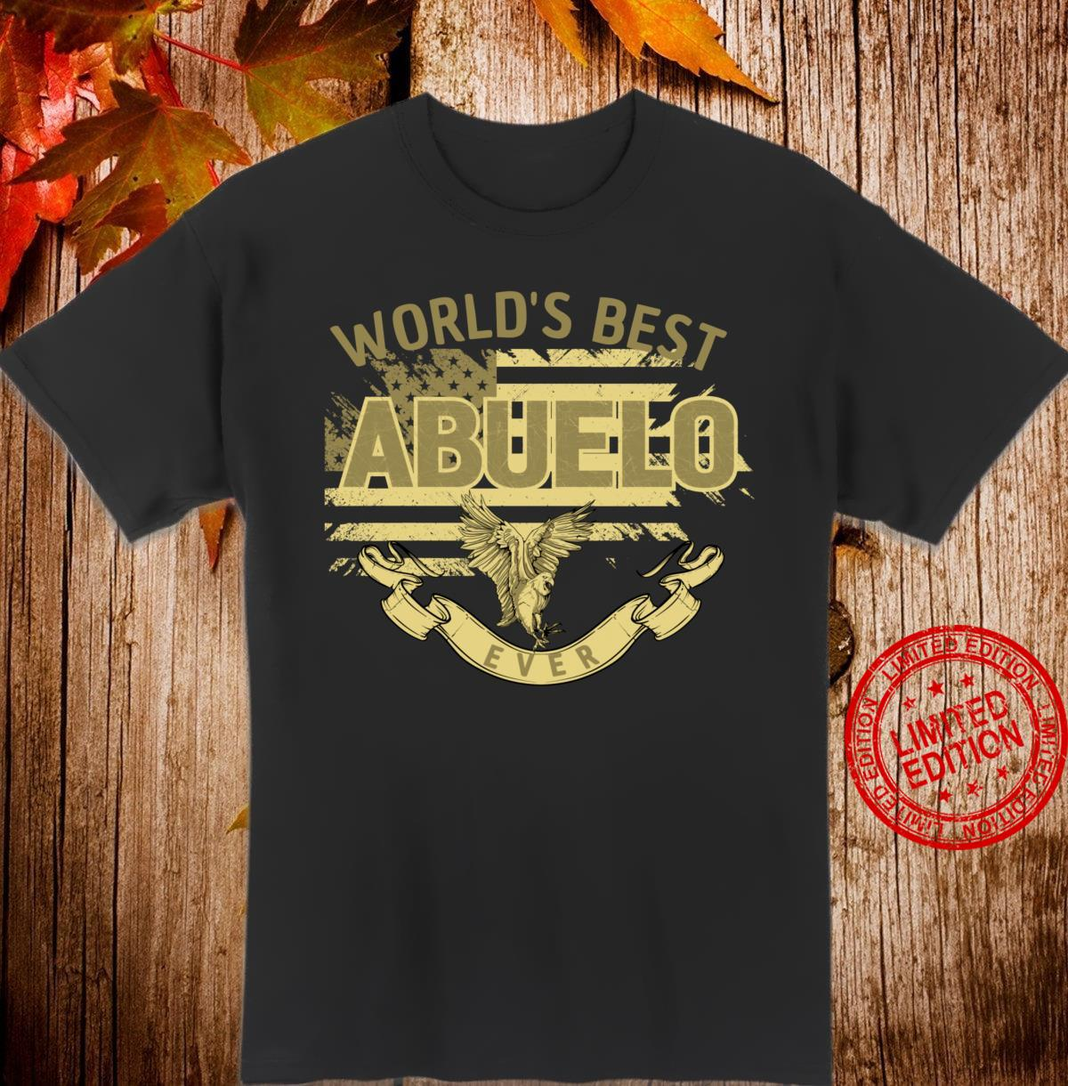 World's Best Abuelo US Flag Fathers Day Grandpa Shirt