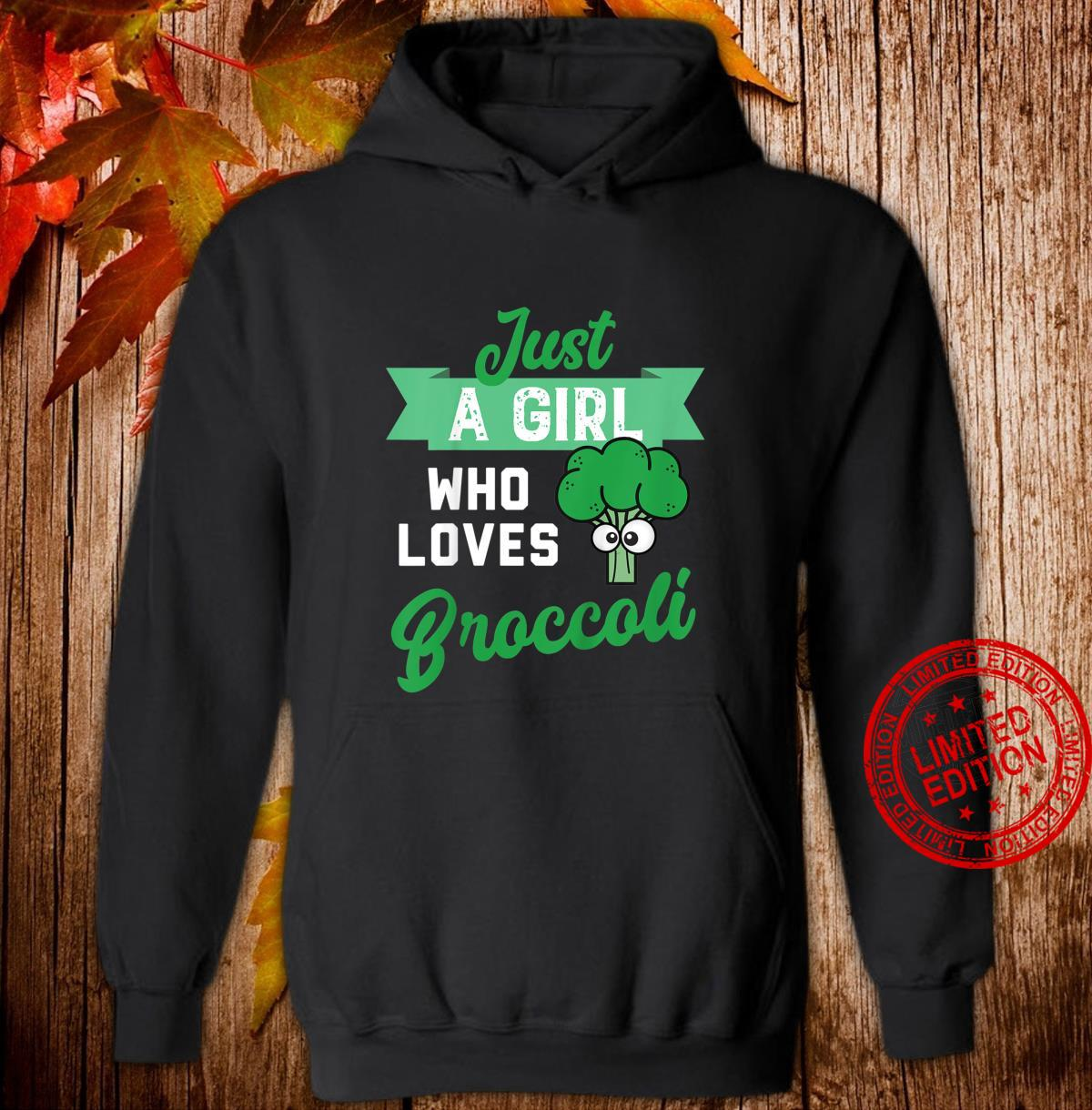 Youth Just a Girl Who Likes Broccoli Design fors of Broccoli Shirt hoodie