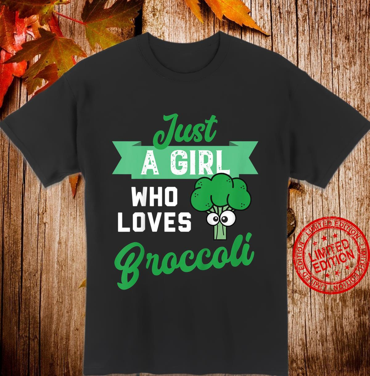 Youth Just a Girl Who Likes Broccoli Design fors of Broccoli Shirt